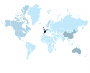 A map of Finnish circus abroad in 2016